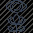 ecotourism, eye, flower, sheet icon