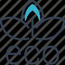 bio, eco, ecotourism, sheet icon