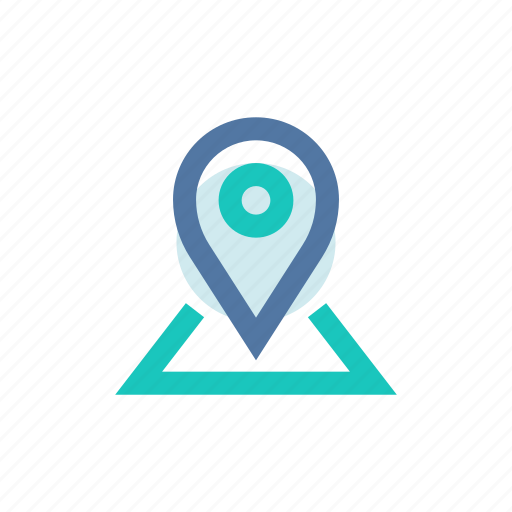 gps, map, mark, my places, pin, position, spot icon