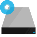 blu ray, drive, hardware, shading icon