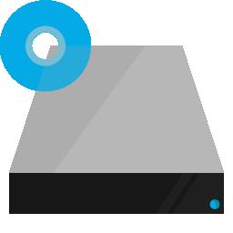 blu ray, drive, hardware, shading icon