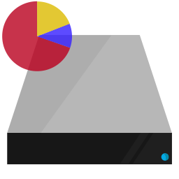 chart, data, drive, hardware, pie, shading icon