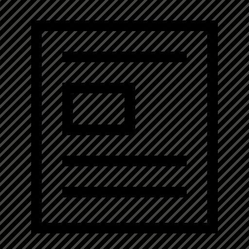 arrangement, doc, document, file, position, text, wrap icon