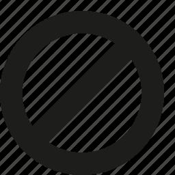 delete, denied icon