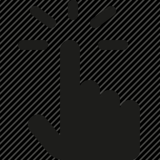 click, cursor, hand icon