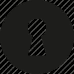 hole, key icon