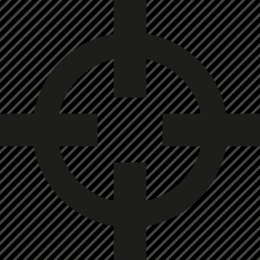 crosshair, pointer icon