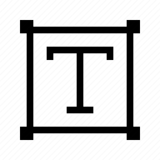 box, edit, editor, sign, text icon