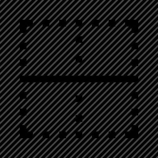 border, center, edit, editor, horizontal, text icon
