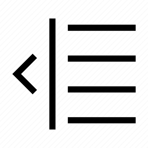 all, dedent, edit, editor, text icon