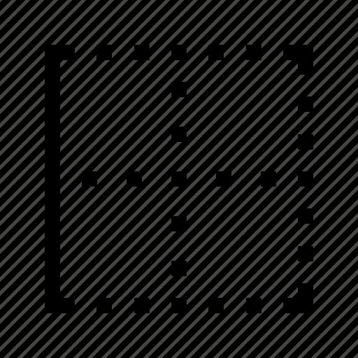 border, edit, editor, left, text icon