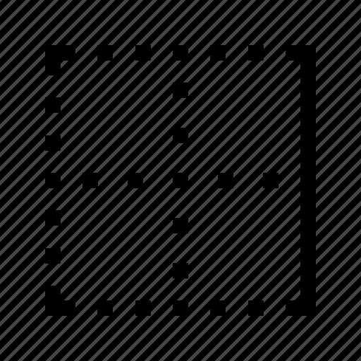 border, edit, editor, righ, text icon