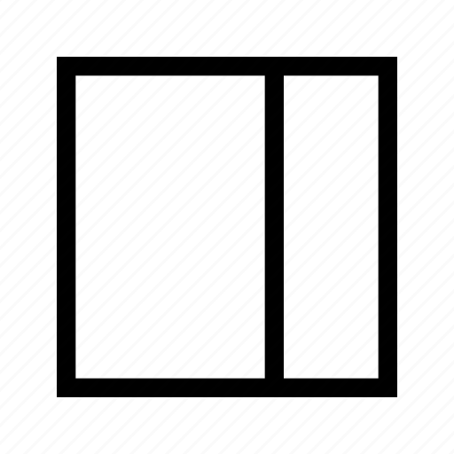 editor, right, sidebar, text icon
