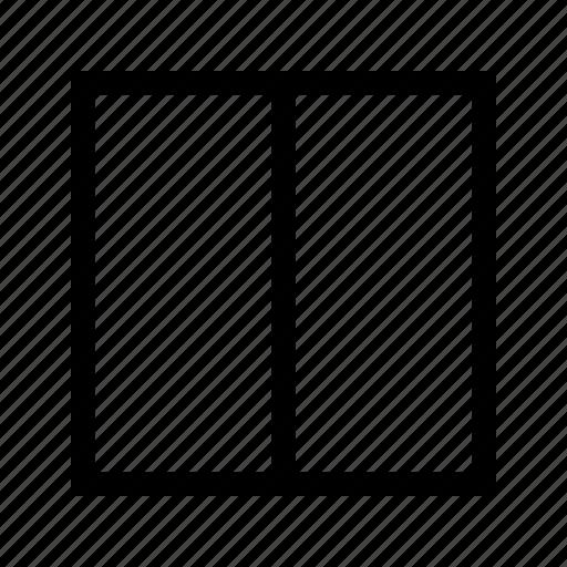 column, edit, grid, two icon