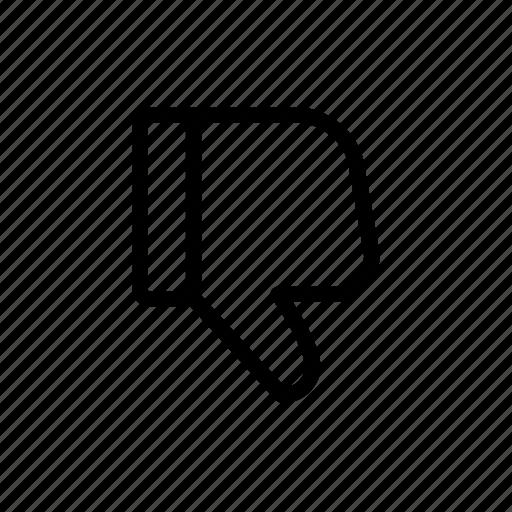 bad, dislike, no good, thumbs down, unlike, vote icon