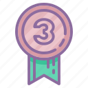 achievement, award, badge, medal, prize, ribbon icon