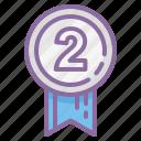 achievement, award, badge, medal, prize, ribbon, senator icon