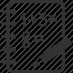 calculation, education, math, study icon