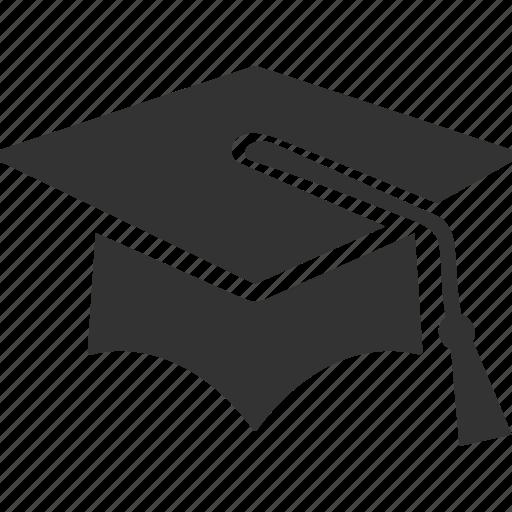 education, graduation, mortar board icon