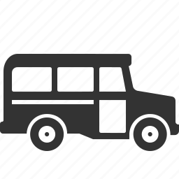 school bus, transport, vehicle icon