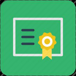 achievement, certificate, certification, degree, diploma icon
