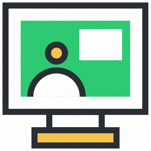 monitor, video call, video chat, video conference, voice chatting icon