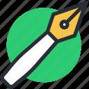 fountain pen, pen nib, pen tip, write, writing tool icon