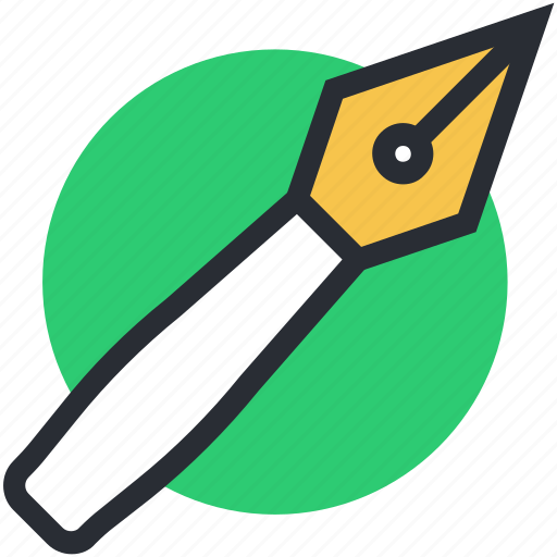 fountain pen, pen nib, pen tip, write, writing tool icon