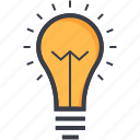 bulb, electric light, electrical bulb, energy, light, light bulb, luminaire icon
