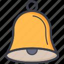 ring, hand bell, school bell, alert, bell icon
