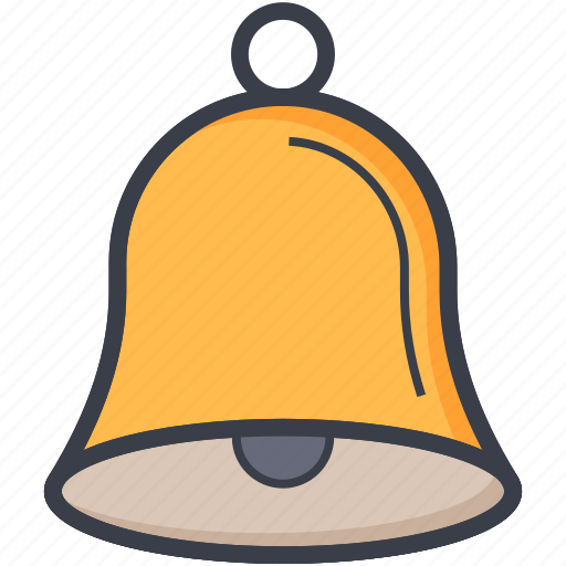 alert, bell, hand bell, ring, school bell icon