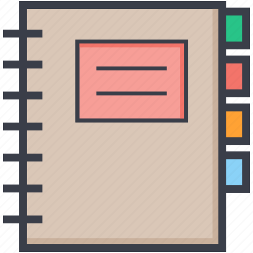 data, diary, notepad, notes, records icon