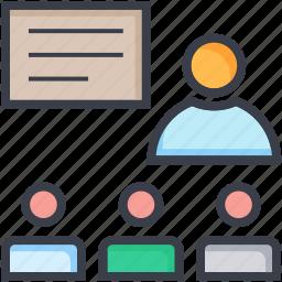 auditorium, classroom, institute, school, schoolroom icon