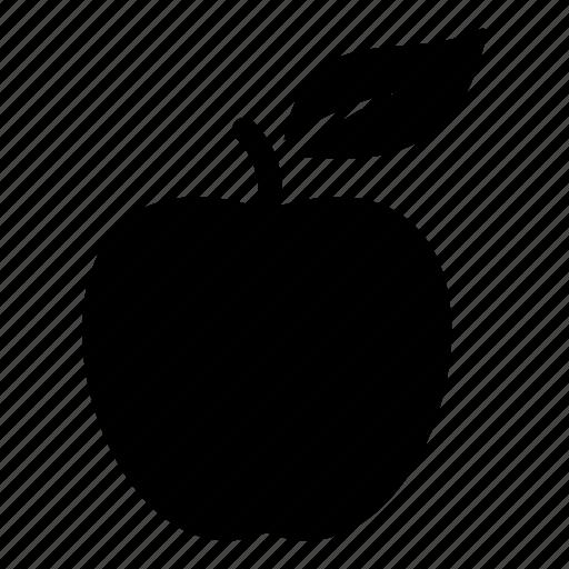 apple, eat, education, food, fruit, leaf icon