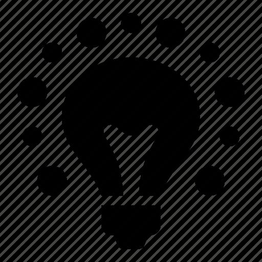 bright, bulb, creative, education, idea, lightbulb, power icon