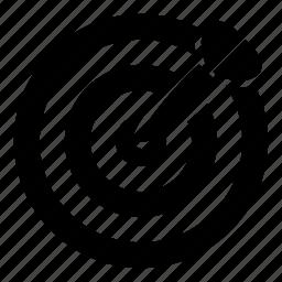 arrow, aspirations, dart, dartboard, education, goal, target icon