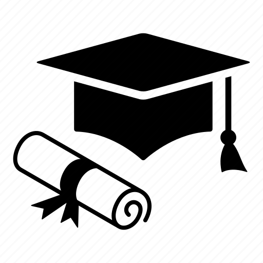cap, certification, college, diploma, education, graduation, student icon