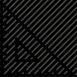 degree square, drafting tool, geometry, geometry tool, set square icon