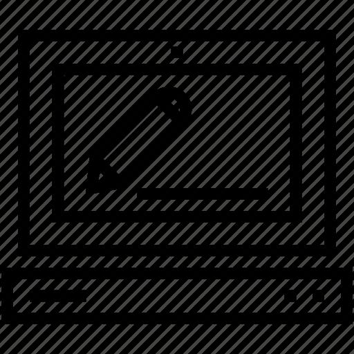 designing, laptop, laptop pc, macbook, notebook icon