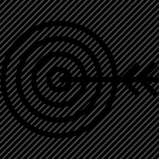 bullseye, dart, dartboard, objective, target icon