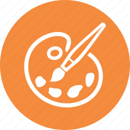 art, graphic design, paintbrush, palette icon