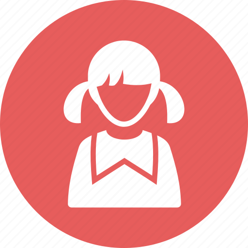 avatar, girl, student, user icon