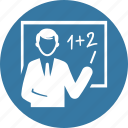 blackboard, education, math, teacher icon