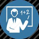 blackboard, education, math, teacher