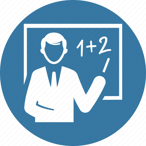 blackboard, education, math, teacher icon