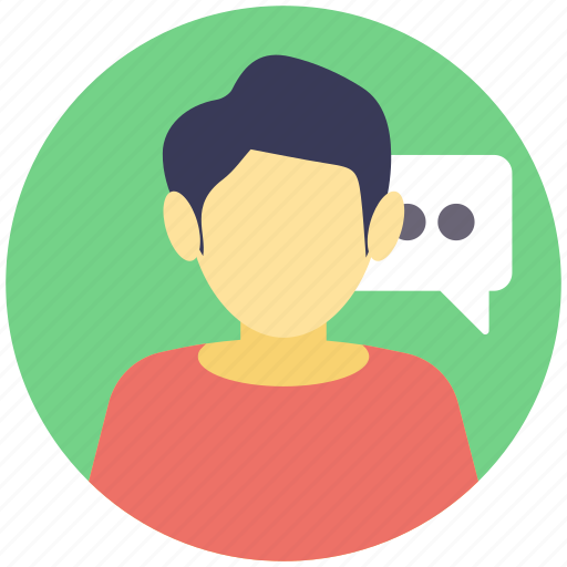 consultant, discussion, speech, talk, talking person icon