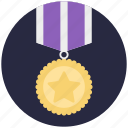 1st position, medal badge, position holder, star medal, winner badge