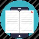 e-book, e-learning concept, education app, online books, online education