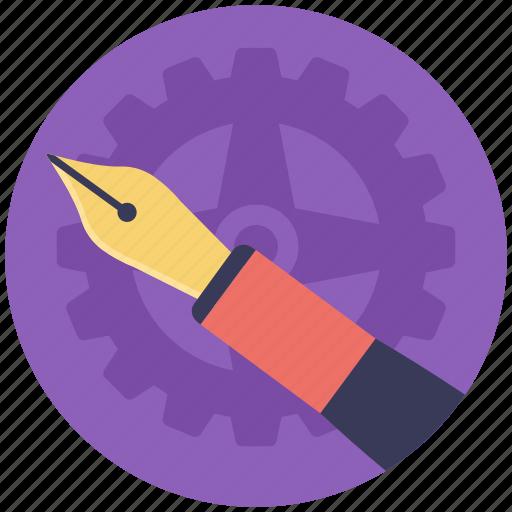 calligraphy, ink pen, pen nib, pen tip, writing icon