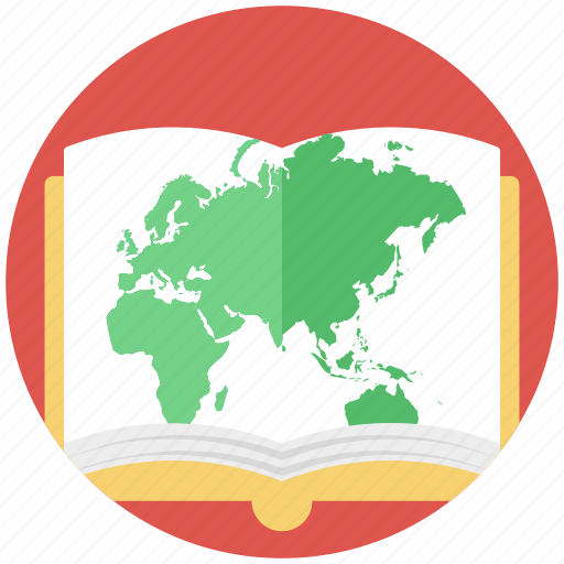 earth features, geography, geography book, geography subject, study of earth icon